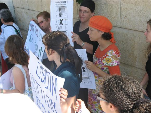 Active women's groups, religious and secular, demonstrating against the separation lines