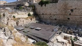 The southern Kotel, designated for the non-Orthodox movements and Women of the Wall