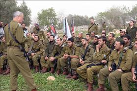 Chief of Staff Lt. Gen. Benny Gantz visit Netzach Yehuda battalion near Jenin. 02.03.2014, Photo: IDF Spokesperson