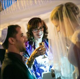 Under the chuppah at the Sara and Tzachi's wedding