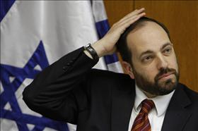 Housing Minister, Ariel Atias from Shas in the  Knesset.08.03.2010. Photo: Miriam Ulster, Flash 90