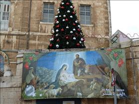 Christmas tree in the Old City of Jerusalem