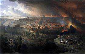 Destruction of the 2nd Temple, source: Wikipedia
